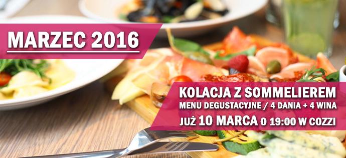 10 marca 2016  – kolacja z sommelierem